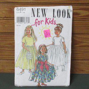 Girls  Dress Pattern Sz 3-8 TULLE OVERSKIRT UNCUT